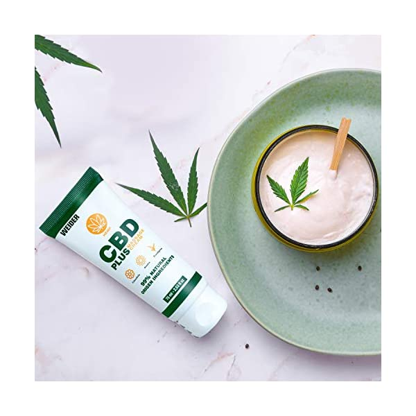 Weider Anti-inflammatory Cream 75 ml with CBD, Calendula, Arnica and Eucalyptus. Ideal massage cream for before and after physical exercise