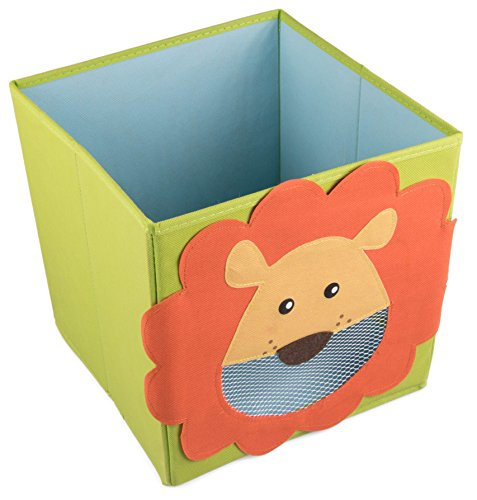 Smiling Lion Collapsible Toy Storage Box and Closet Organizer for Kids