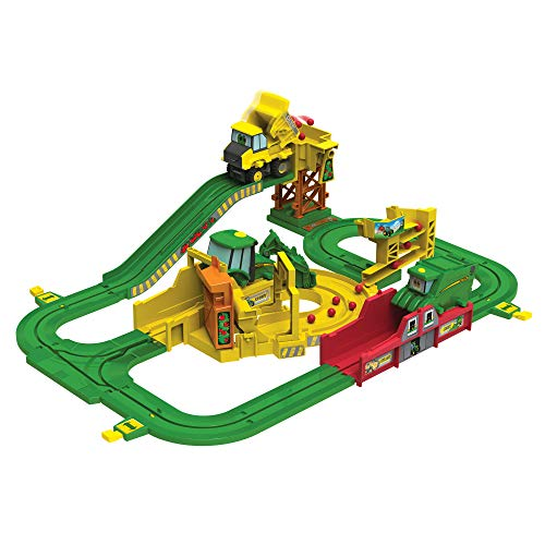 John Deere Big Loader Motorized Toy Train Set with Tractor & Magical Farm for Kids Fun Playtime