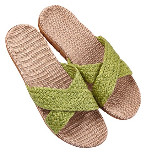 Men Sandals Striped NEAER 13 Summer House for Skidproof Slippers Women Indoor Slippers Linen PfPxwIHqna