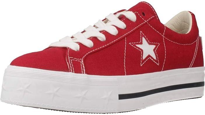 Converse Basket, Couleur Rouge, Marque, Modã¨Le Basket One Star Platform Ox  Rouge