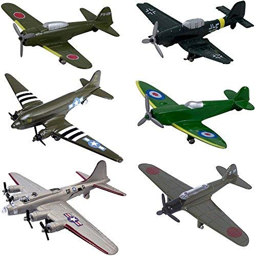 InAir WWII Planes 6 Piece Set with Aircraft ID Guide - Assortment ()