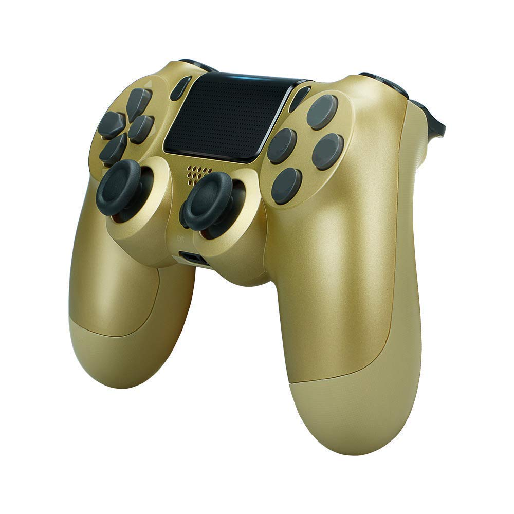 Wireless Controllers for PS4 Playstation 4 Dual Shock Six-axis,Bluetooth Remote Gaming Gamepad Joystick Gold1