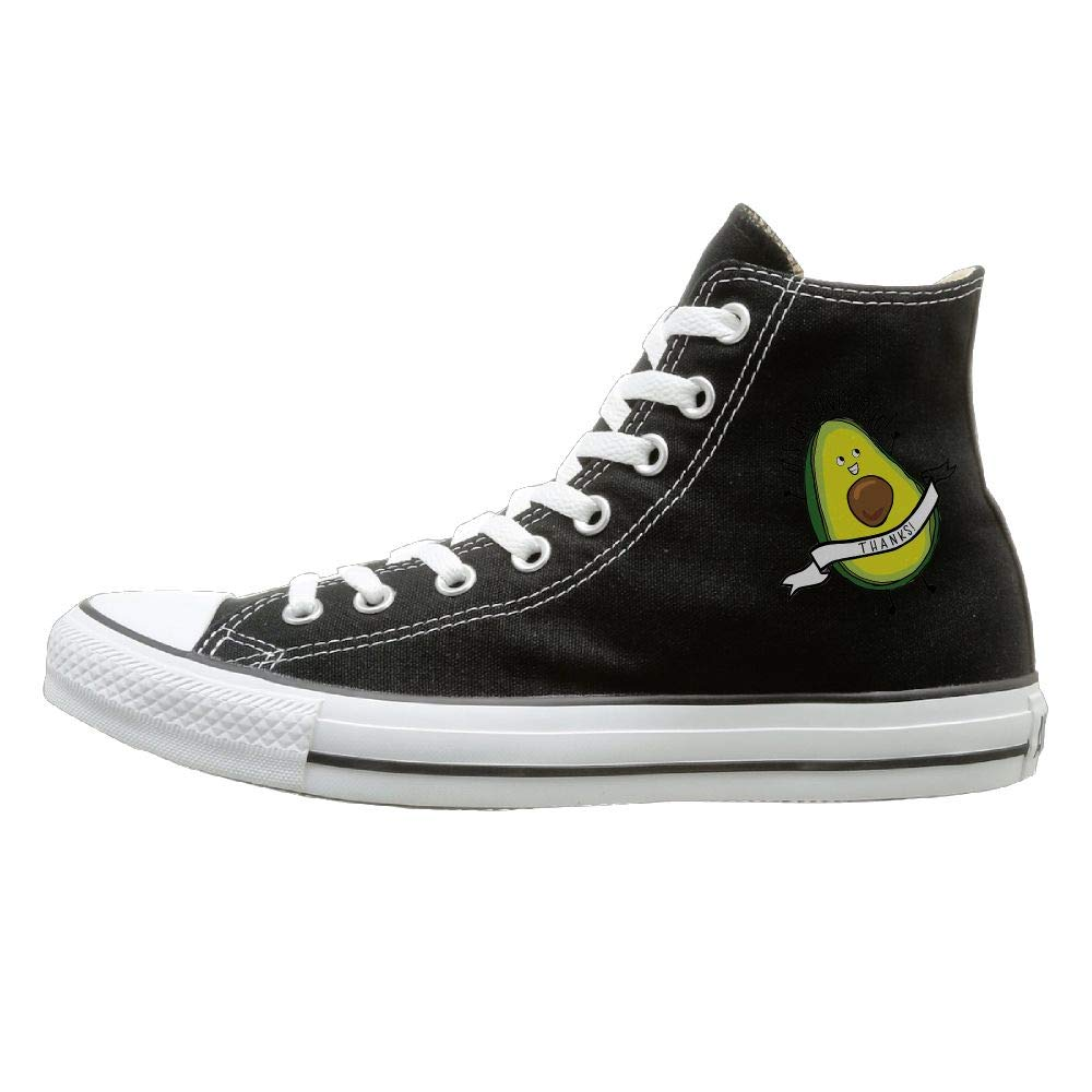 Thanks Shenigon Its An Avocado Canvas Shoes High Top Sport Black Sneakers Unisex Style
