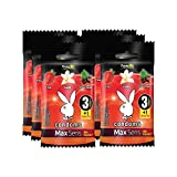 Playboy Condoms MaxSens Passion mix 6 paquetes con 3 condones + 1 gratis c/u