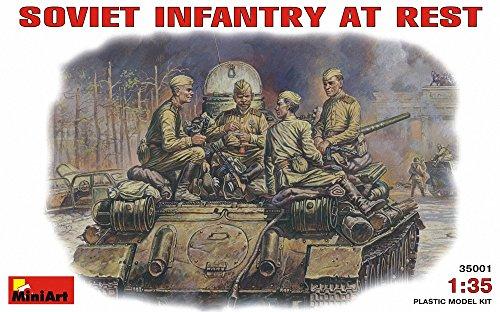Mini Art Plastics Soviet Infantry at Rest