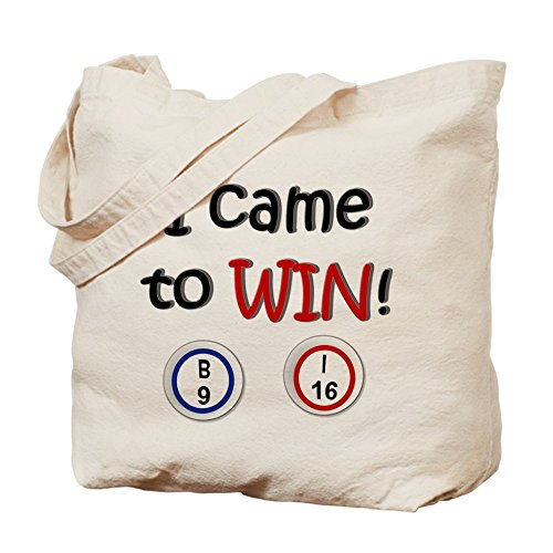 Cafepress – Came to Win. bingo – Borsa di tela naturale, tessuto in iuta