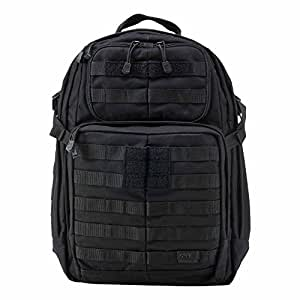5.11 RUSH24 Military Tactical Backpack, Molle Rucksack Bug Out Bag, Medium, Style 58601, Black