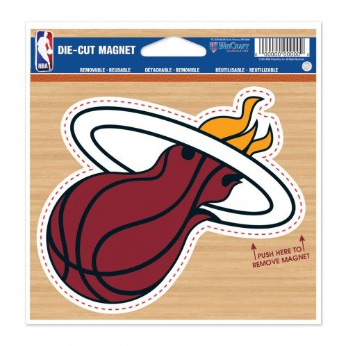 WinCraft Miami Heat Official NBA 4.5 inch x 6 inch Car Magnet by 294289 by WinCraft