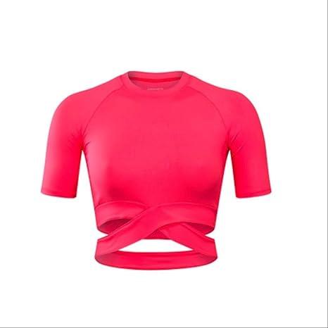 qazcg Camisas de Yoga para Mujeres Estilo Deportivo Superior ...