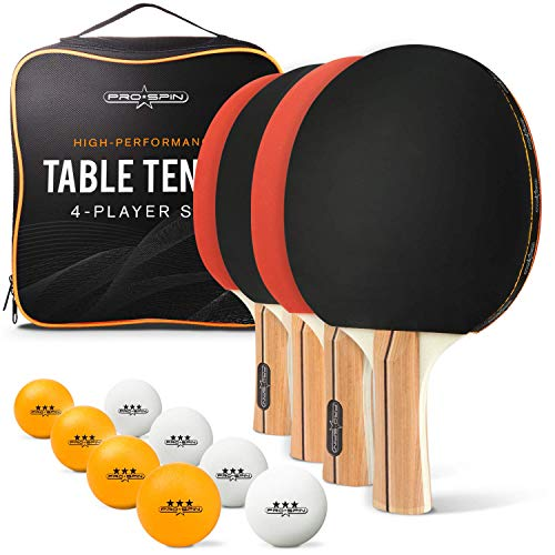 Review Of PRO SPIN Ping Pong Paddle Set - 4 High-Performance Paddles/Rackets, 8 Pro Table Tennis Bal...