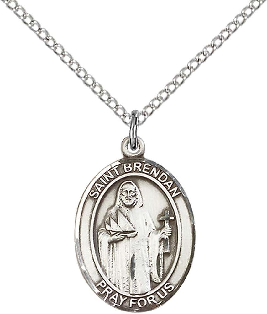 3//4 Pouces 14KT GOLD FILLED Saint Brendan le navigateur médaille pendentif