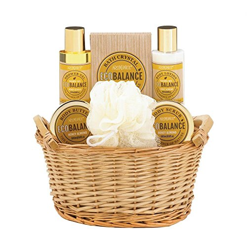 Bath And Body Gift Sets, Teen Makeup Gift Sets For Women With Basket (honey) - Honey Willow Basket Set