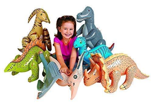 Jumbo Inflatable Dinosaurs ( 6 count) ()