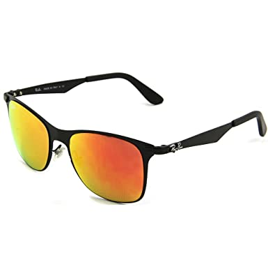 01945b8ff4 Ray-Ban RB3521-006-69 Men s Wayfarer Flat Metal Black Sunglasses   Amazon.co.uk  Clothing