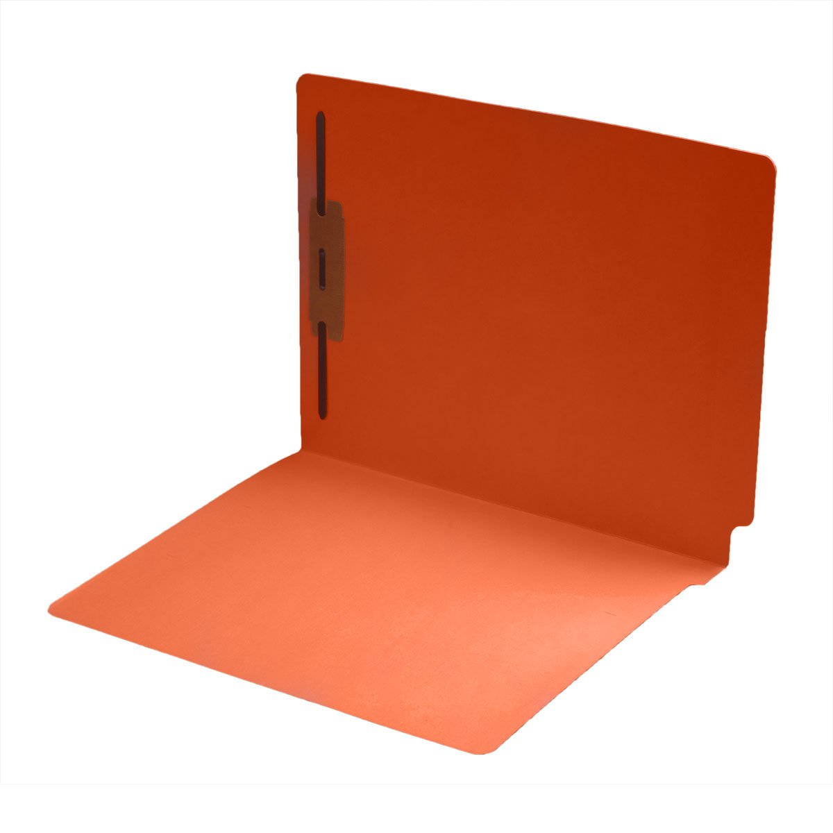 11 pt Color Folders, Full Cut 2-Ply End Tab, Letter Size, Fastener Pos #1, Orange (Box of 50) by Ecom Folders