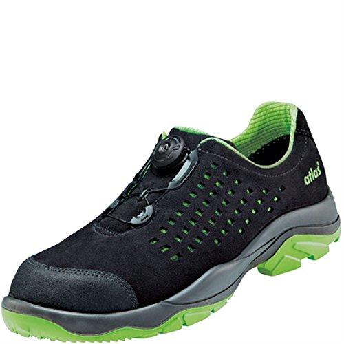 Seguridad Esd Zapatos De Poco Ancho Sl 9205 Boa Green En 12 Después De En Iso 20345 S1p Src De Atlas, Negro (negro), 43 Ue
