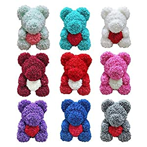 Forever Rose Teddy Bear Artificial Flower Rose Anniversary Christmas Valentine's Day Creative Birthday Gift Plush Doll Decoration 64