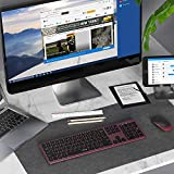 Wireless Keyboard and Mouse, Jelly Comb 2.4GHz