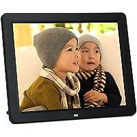 Minidiva 12 HD LED 4:3 Digital Picture Frame - Photo Display with Max 32GB Storage(Black)
