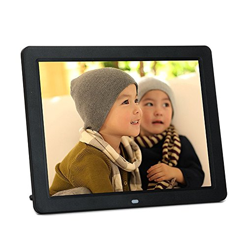 "Minidiva 12"" HD LED 4:3 Digital Picture Frame - Photo Display with Max 32GB Storage(Black)"