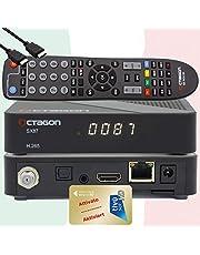 TiVuSat HD gouden kaart geactiveerd met voorgeprogrammeerde satelliettv-ontvanger Octagon SX87 HD H.265 S2+IP HEVC Set-Top Box - mediaspeler, YouTube, webradio, iOS en Android app, USB PVR, + EasyMouse HDMI