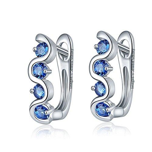 Jewels Galaxy Crystal Elements Luxuria Sparkling Splendid Clip On Earrings For Women/Girls