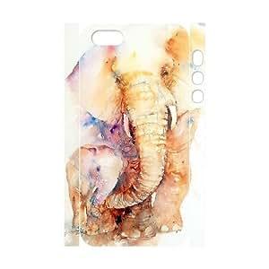 3D [elephant design] elephant true love Case For Iphone 4/4S Cover {White}