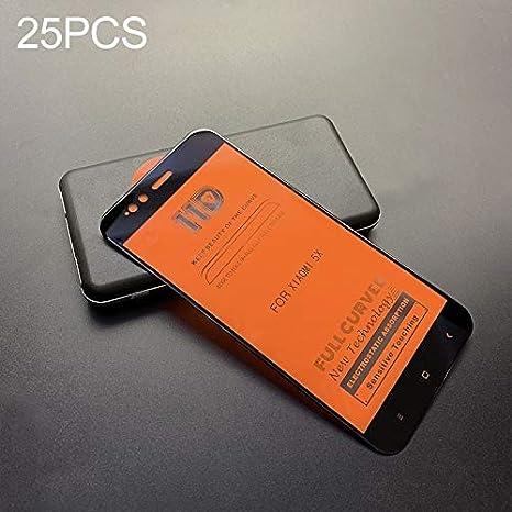 GzPuluz Glass Screen Protector 25 PCS Scratchproof 11D HD Full Glue Full Curved Screen Tempered Glass Film for Xiaomi Mi 5X Color : Black Black A1