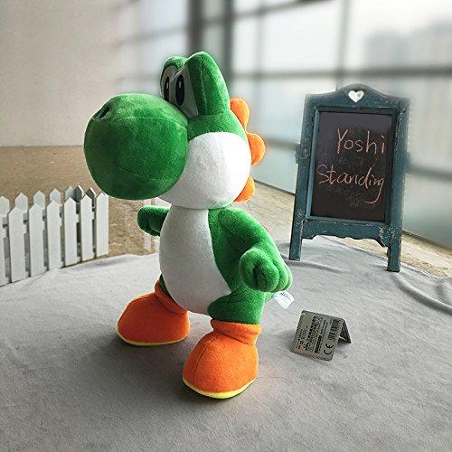 Amazon.com: RedGlobe 34cm Super Mario Bros Standing Yoshi Dragon Plush Dolls Toy Stuffed Soft Yoshi Peluche Doll Kids Gifts: Toys & Games