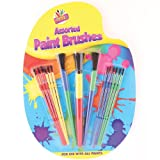 Artbox Plastic Paint Brush - Assorted Colour (Pack of 15)