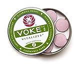 Voke Tab (2 tins/14 chewables) Brain Boosting Focus, Memory & Energy. No Sugar, All Natural Green Tea Caffeine, Organic Guarana, Organic Acerola Cherry, Beet Powder, 100% Vitamin C Antioxidants