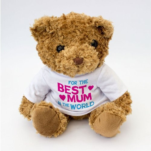 NEW - Best Mum In The World Teddy Bear - Cute And Cuddly - Present Gift For - Bear Mama Teddy