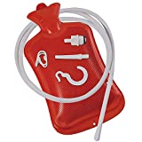 Enema Bag Hot Water Bottle for Colon Cleansing with Silicone Hose - Coffee