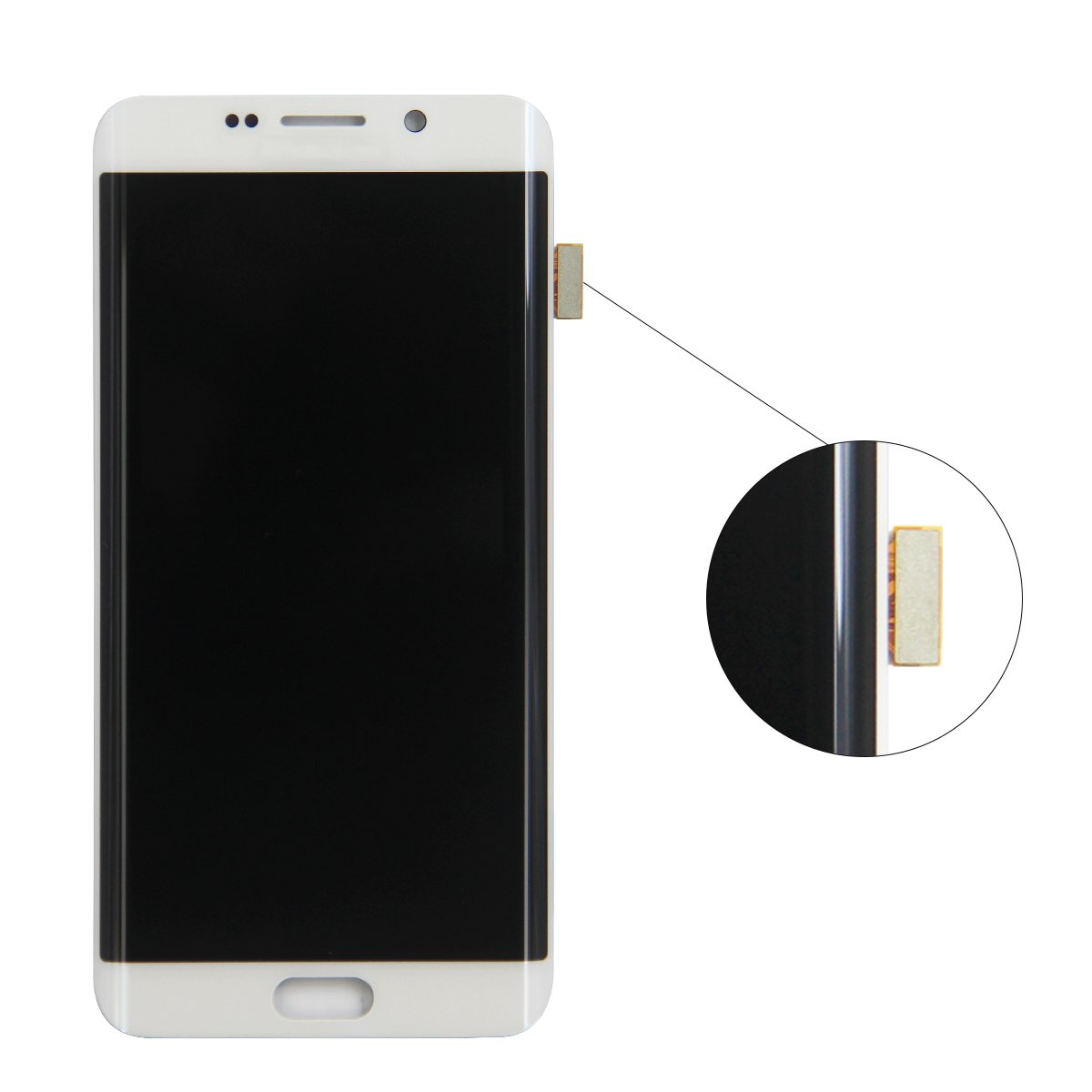 HJSDtech LCD Display Screen Touch Screen Digitizer Assembly Replacement for Samsung Galaxy S6 Edge Plus G928T G928P G928V (White) by HJSDtech (Image #2)