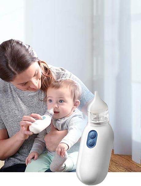 HS-ZM-01 Aspirador Nasal para bebés 2 Puntas Bebé recién Nacido Especial congestión Nasal Lavado Nasal Aspiración Nasal Aspirador Nasal eléctrico: Amazon.es: Hogar
