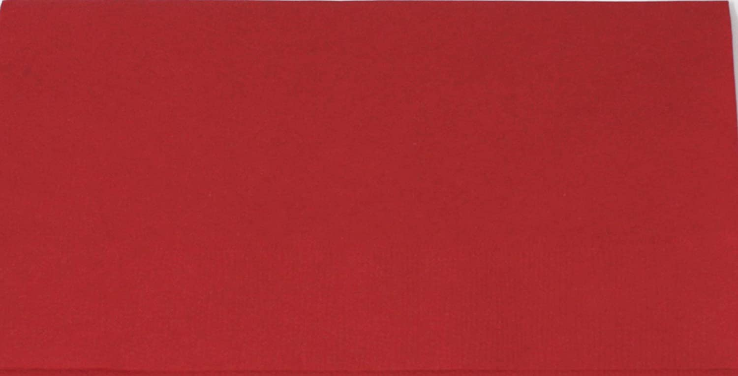 "Red Dinner Napkin, Choice 2-Ply, 15"" x 17"" - 125/Pack"