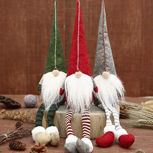 d/écoration de Style scandinave FFPTBNYX Lot de 3 Nains su/édois en Peluche de No/ël