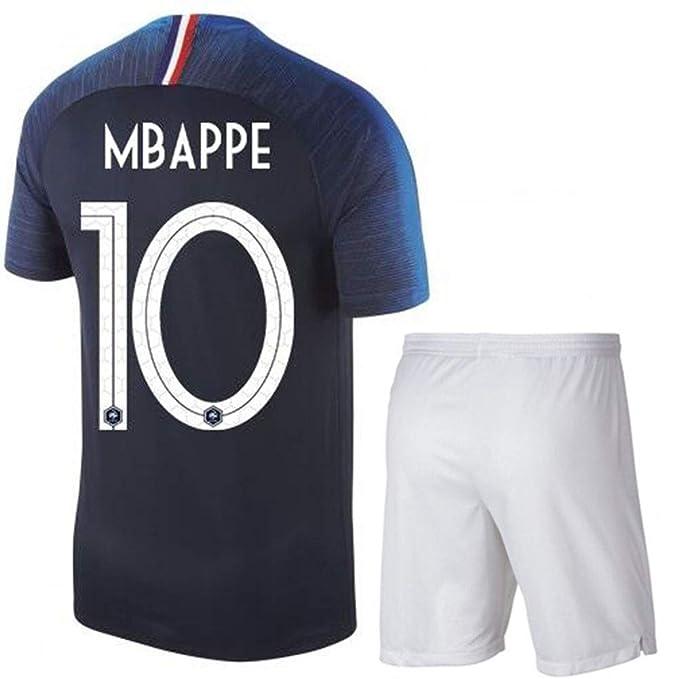 6a52524715c19c LJP FFF Campione di Squadra Francese Jersey 2018 World Cup Due Stelle con  Pantaloncini: Amazon.it: Abbigliamento
