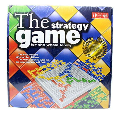 Price comparison product image LQT Ltd The Strategy Game Blokus Top Board Game Educational Toys 484 Squares Game Easy to Play for Children Russian Box Series Indoor Games