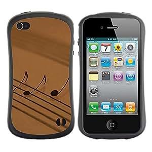 LASTONE PHONE CASE / Suave Silicona Caso Carcasa de Caucho Funda para Apple Iphone 4 / 4S / Music Notation