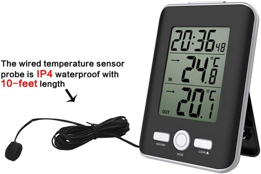 REFURBISHHOUSE ecran numerique LCD Thermometre a Temperature Interieure de Voiture