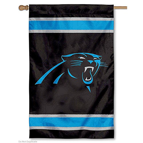 Party Animal Carolina Panthers NFL Applique Banner Flag (44x28