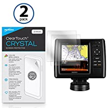 Garmin echoMAP CHIRP 45dv Screen Protector, BoxWave® [ClearTouch Crystal (2-Pack)] HD Film Skin - Shields From Scratches for Garmin echoMAP CHIRP 45dv