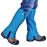 Winis Snow Gaiters Hiking Camping Mountain Climbing Leg Gaiters Oxford Waterproof Dustproof Antiwater Leg Cover Breathable Anti-bite High Gaiters Leg Protection Guard Boot Guardian (1 Pair) (Blue)