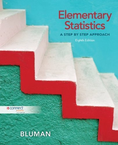 Elementary Statistics: A Step By Step Approach 8th Edition by Bluman, Allan published by McGraw-Hill Science/Engineering/Math Hardcover