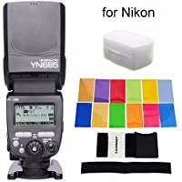 YONGNUO i-TTL Speedlite YN685 (YN-568EX Upgraded Version) 622N/603 Dual Wireless System Works with YN622N and RF603 Wireless Flash for Nikon DSLR + EACHSHOT Color Filters + EACHSHOT Diffuser