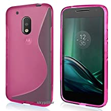 Motorola Moto G4 Play / Moto G Play 4th Generation Case , Skypillar Canada, Anti-Scratches Flexible Soft TPU Silicone Rubber Cover - Hot Pink