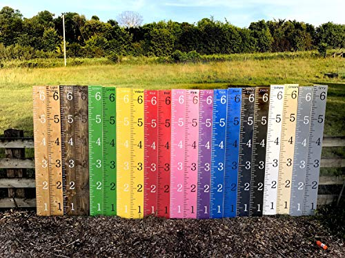 CELYCASY Growth Chart Ruler Kids Growth Chart rulers Wooden Growth Chart Nursery Height Measuring Stick Hand Painted Baby Gift Kids - Painted Nursery Hand Furniture