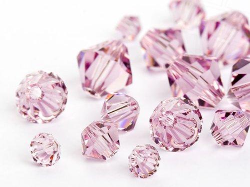 3960 Pieces Gogoritas Glass Beads of Swarovski Elements Bicone (Light Amethyst Multi Size Mix), 3960 Pieces